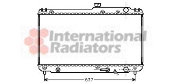 Radiateur, refroidissement du moteur - VAN WEZEL - 53002187