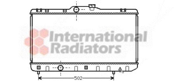 Radiateur, refroidissement du moteur - VAN WEZEL - 53002188