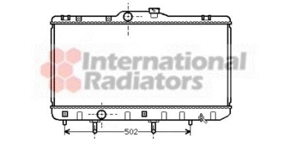 Radiateur, refroidissement du moteur - VAN WEZEL - 53002189