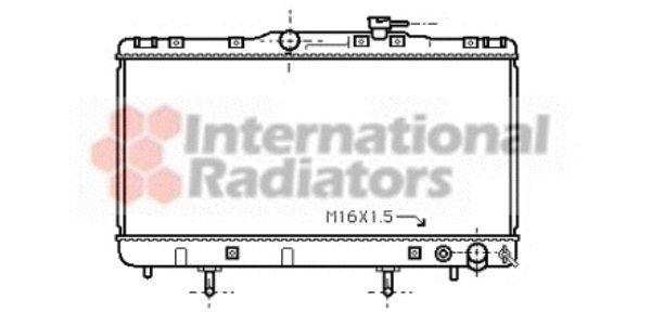Radiateur, refroidissement du moteur - VAN WEZEL - 53002203