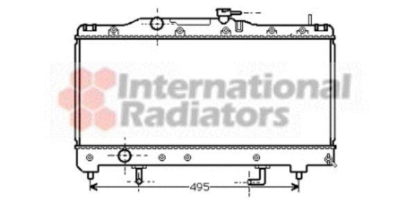 Radiateur, refroidissement du moteur - VAN WEZEL - 53002204