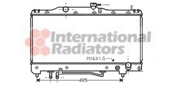 Radiateur, refroidissement du moteur - VAN WEZEL - 53002205