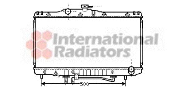 Radiateur, refroidissement du moteur - VAN WEZEL - 53002206