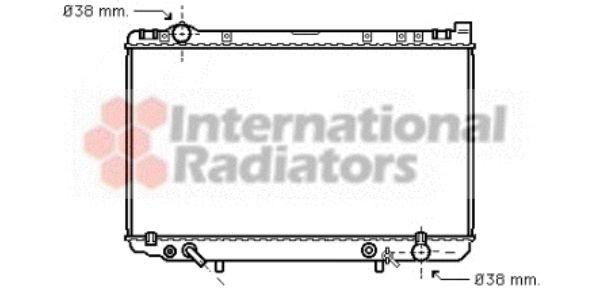 Radiateur, refroidissement du moteur - VAN WEZEL - 53002207