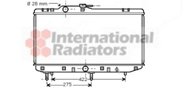 Radiateur, refroidissement du moteur - VAN WEZEL - 53002208