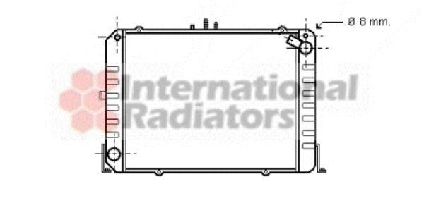 Radiateur, refroidissement du moteur - VAN WEZEL - 53002215