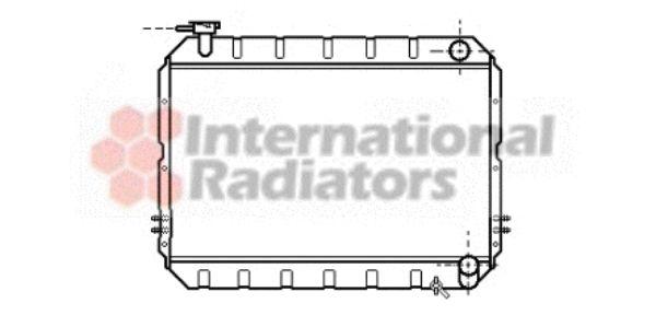 Radiateur, refroidissement du moteur - VAN WEZEL - 53002217