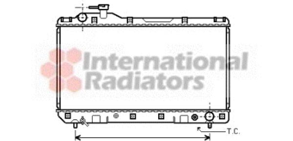 Radiateur, refroidissement du moteur - VAN WEZEL - 53002219