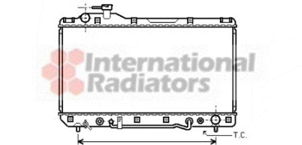 Radiateur, refroidissement du moteur - VAN WEZEL - 53002220