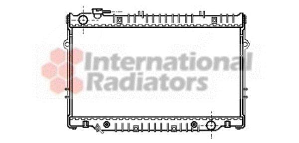 Radiateur, refroidissement du moteur - VAN WEZEL - 53002222