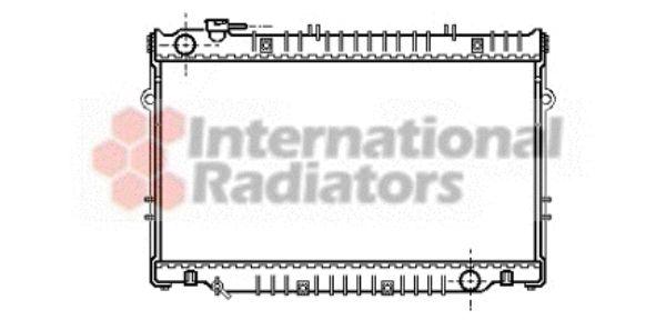 Radiateur, refroidissement du moteur - VAN WEZEL - 53002223