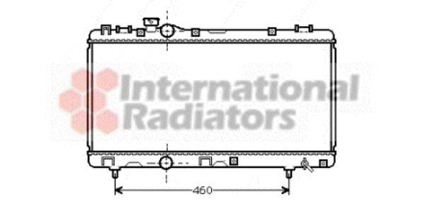 Radiateur, refroidissement du moteur - VAN WEZEL - 53002230
