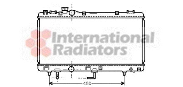 Radiateur, refroidissement du moteur - VAN WEZEL - 53002231