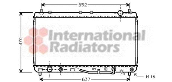 Radiateur, refroidissement du moteur - VAN WEZEL - 53002232