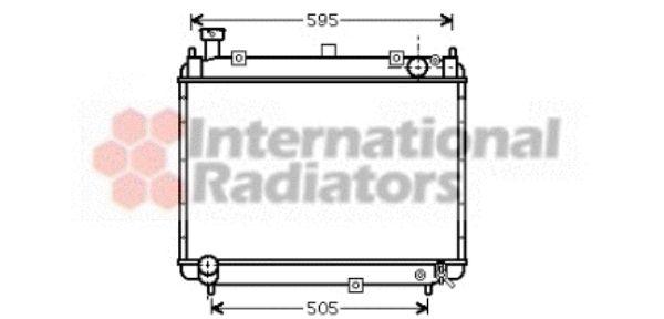 Radiateur, refroidissement du moteur - VAN WEZEL - 53002233