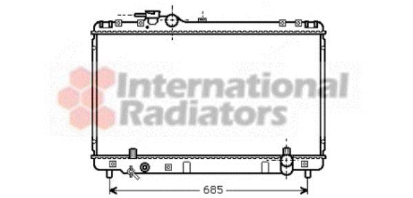 Radiateur, refroidissement du moteur - VAN WEZEL - 53002234