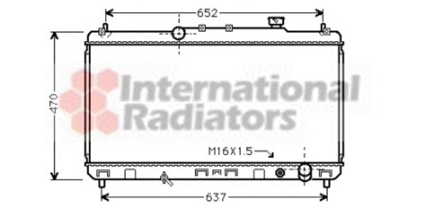 Radiateur, refroidissement du moteur - VAN WEZEL - 53002235