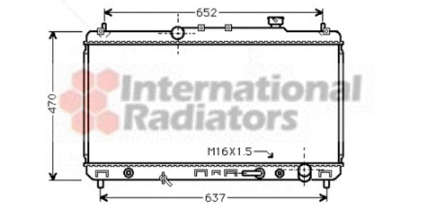 Radiateur, refroidissement du moteur - VAN WEZEL - 53002236