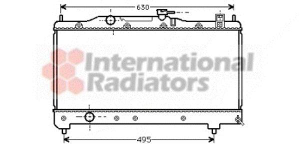 Radiateur, refroidissement du moteur - VAN WEZEL - 53002237