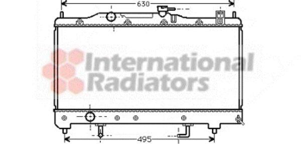 Radiateur, refroidissement du moteur - VAN WEZEL - 53002238
