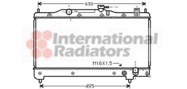 Radiateur, refroidissement du moteur - VAN WEZEL - 53002239