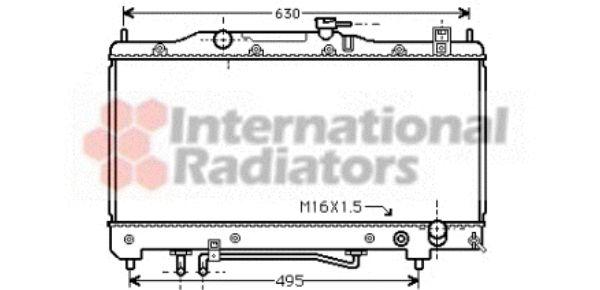 Radiateur, refroidissement du moteur - VAN WEZEL - 53002240