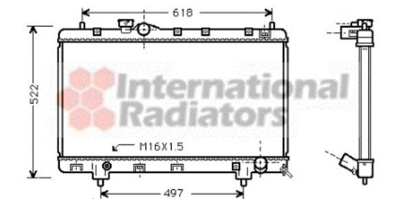 Radiateur, refroidissement du moteur - VAN WEZEL - 53002241
