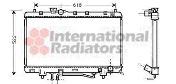 Radiateur, refroidissement du moteur - VAN WEZEL - 53002242