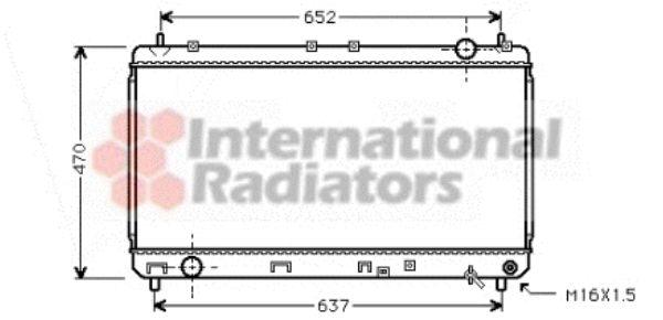 Radiateur, refroidissement du moteur - VAN WEZEL - 53002247