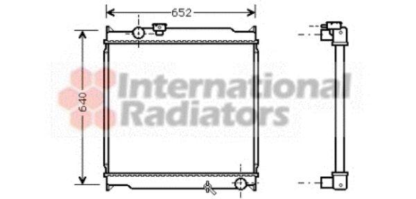 Radiateur, refroidissement du moteur - VAN WEZEL - 53002248