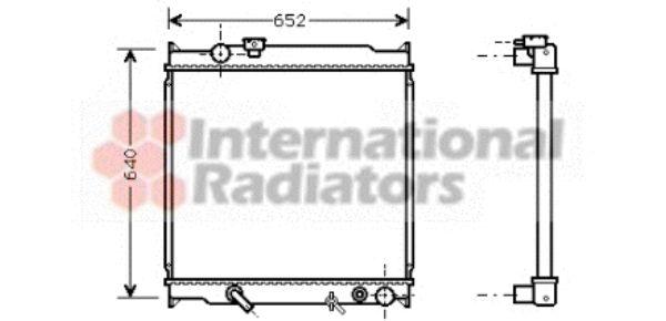 Radiateur, refroidissement du moteur - VAN WEZEL - 53002249
