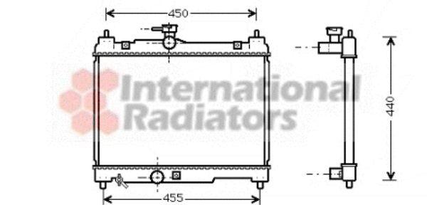 Radiateur, refroidissement du moteur - VAN WEZEL - 53002251