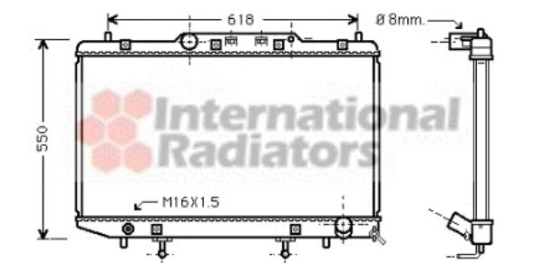 Radiateur, refroidissement du moteur - VAN WEZEL - 53002255