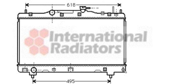 Radiateur, refroidissement du moteur - VAN WEZEL - 53002256