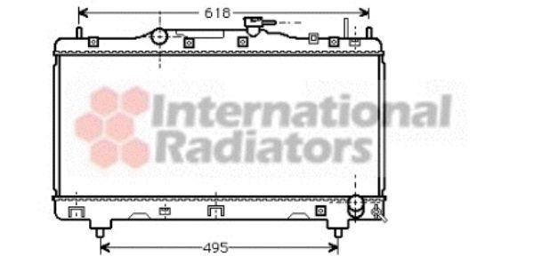 Radiateur, refroidissement du moteur - VAN WEZEL - 53002257