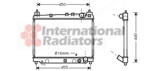 Radiateur, refroidissement du moteur - VAN WEZEL - 53002258