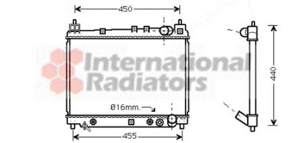 Radiateur, refroidissement du moteur - VAN WEZEL - 53002259