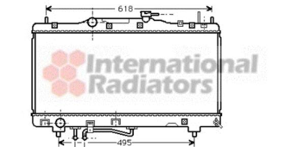 Radiateur, refroidissement du moteur - VAN WEZEL - 53002260