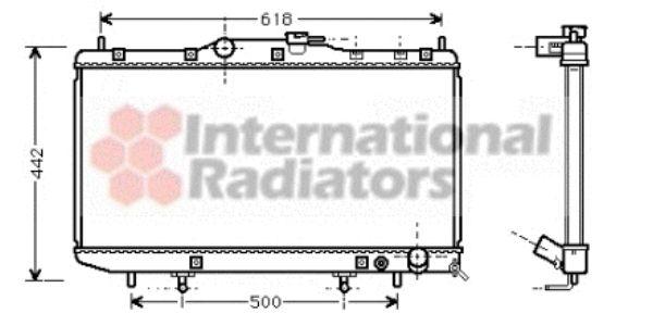 Radiateur, refroidissement du moteur - VAN WEZEL - 53002261