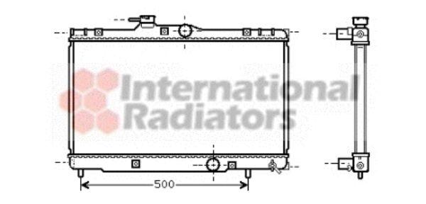 Radiateur, refroidissement du moteur - VAN WEZEL - 53002273