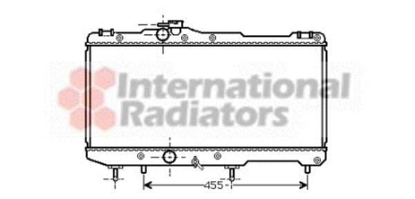 Radiateur, refroidissement du moteur - VAN WEZEL - 53002274