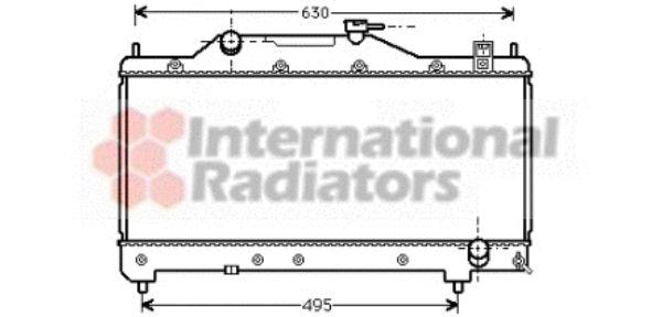 Radiateur, refroidissement du moteur - VAN WEZEL - 53002283