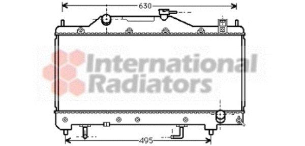 Radiateur, refroidissement du moteur - VAN WEZEL - 53002284