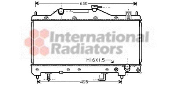 Radiateur, refroidissement du moteur - VAN WEZEL - 53002285