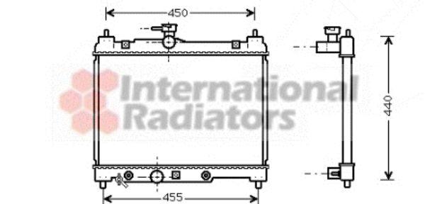 Radiateur, refroidissement du moteur - VAN WEZEL - 53002287