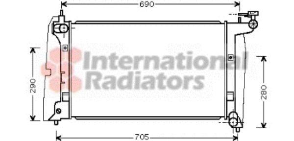 Radiateur, refroidissement du moteur - VAN WEZEL - 53002289