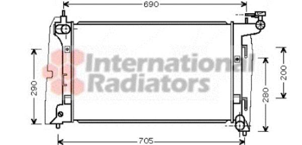 Radiateur, refroidissement du moteur - VAN WEZEL - 53002290