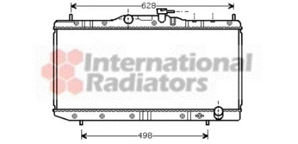 Radiateur, refroidissement du moteur - VAN WEZEL - 53002291