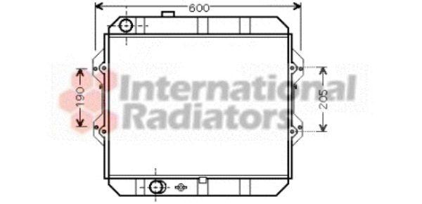 Radiateur, refroidissement du moteur - VAN WEZEL - 53002292