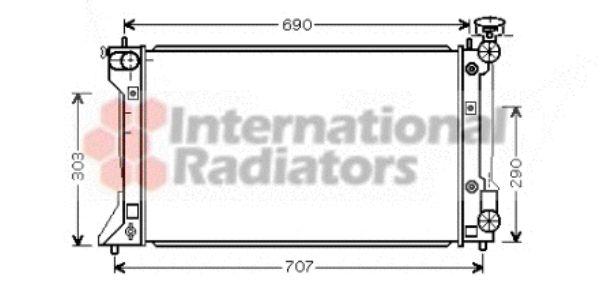 Radiateur, refroidissement du moteur - VAN WEZEL - 53002293